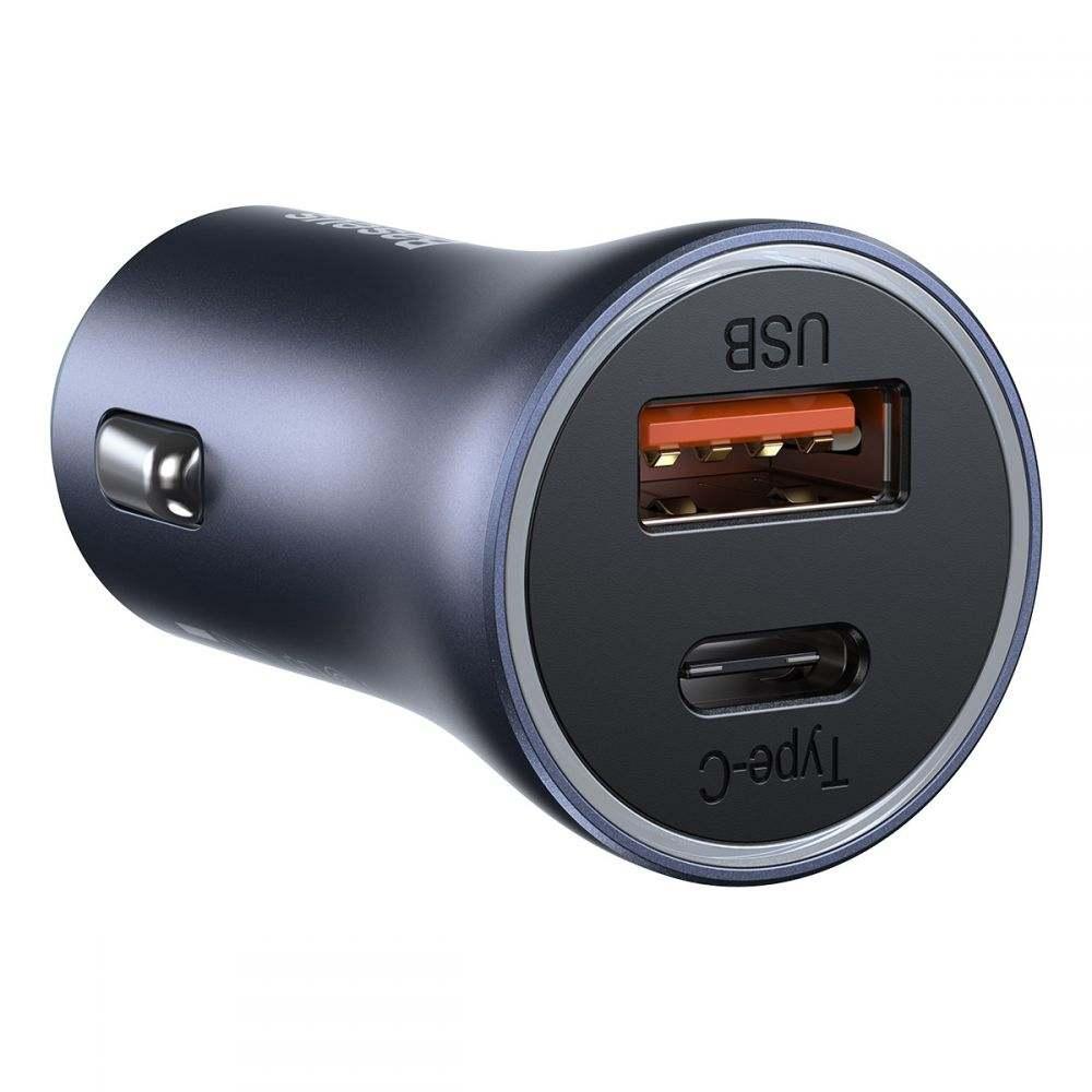 Baseus Golden 2-Port USB & Type-C PD40W/QC3.0 autós töltő