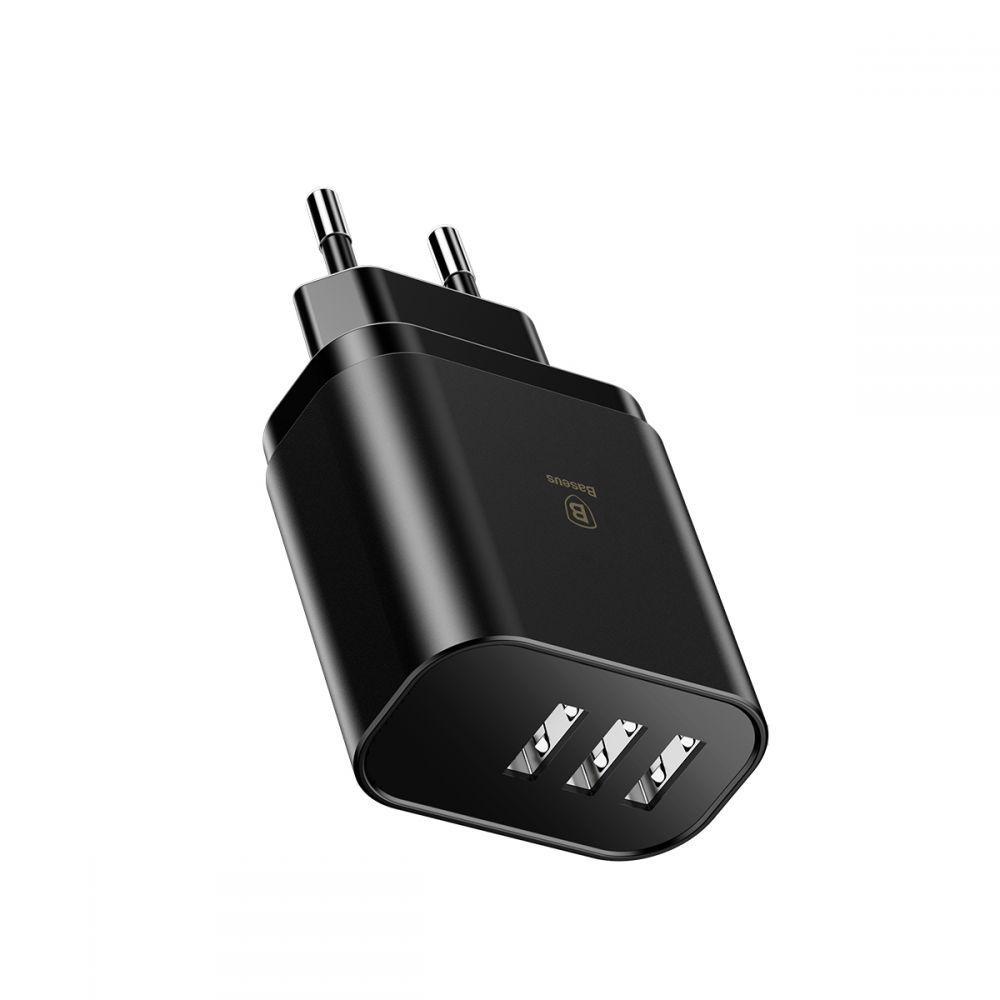 Baseus Mirror 3xUSB töltő adapter