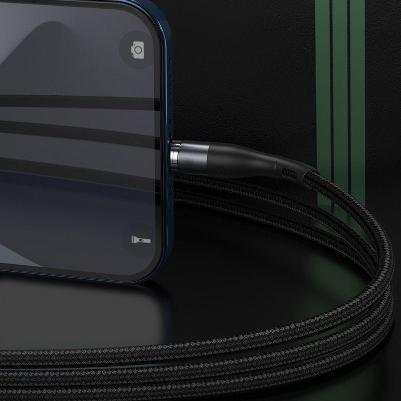 Baseus Zinc Lightning Magnetic töltőkábel 2,4A 1m