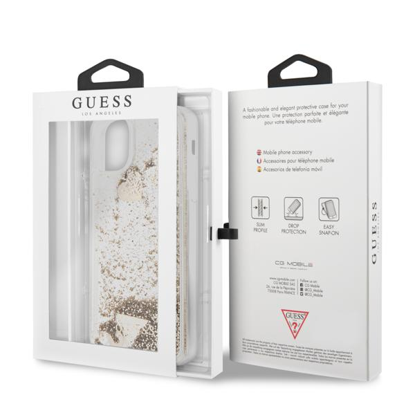 Guess Hearts Glitter iPhone 11Pro tok