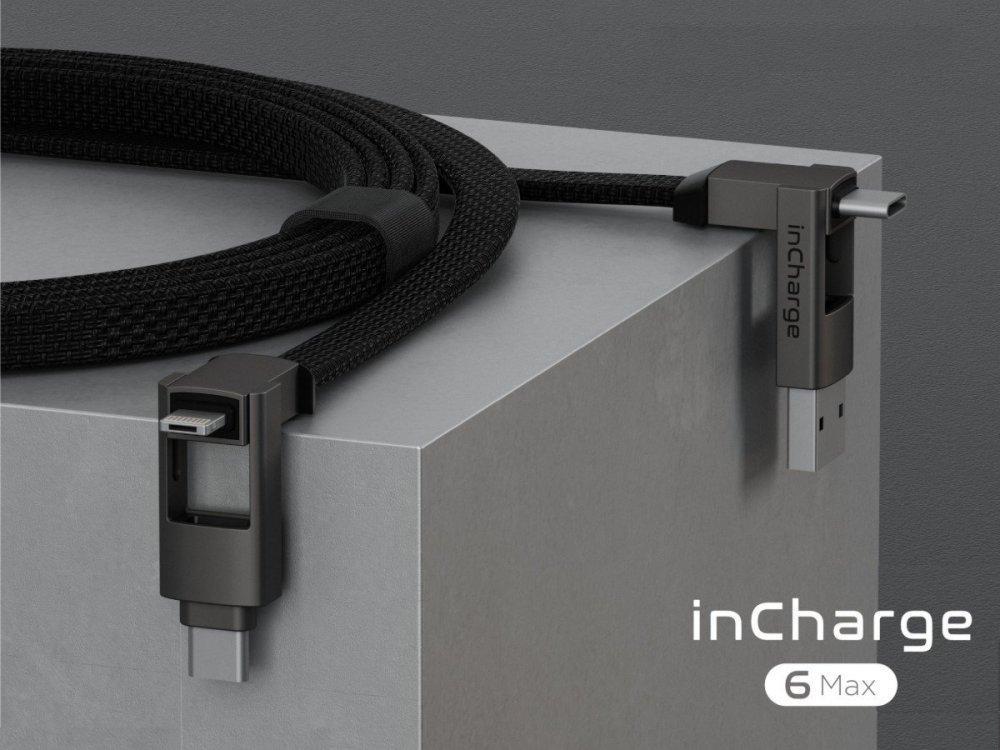 inCharge 6 Max 6-in-1 Adat- és töltőkábel 1.5m