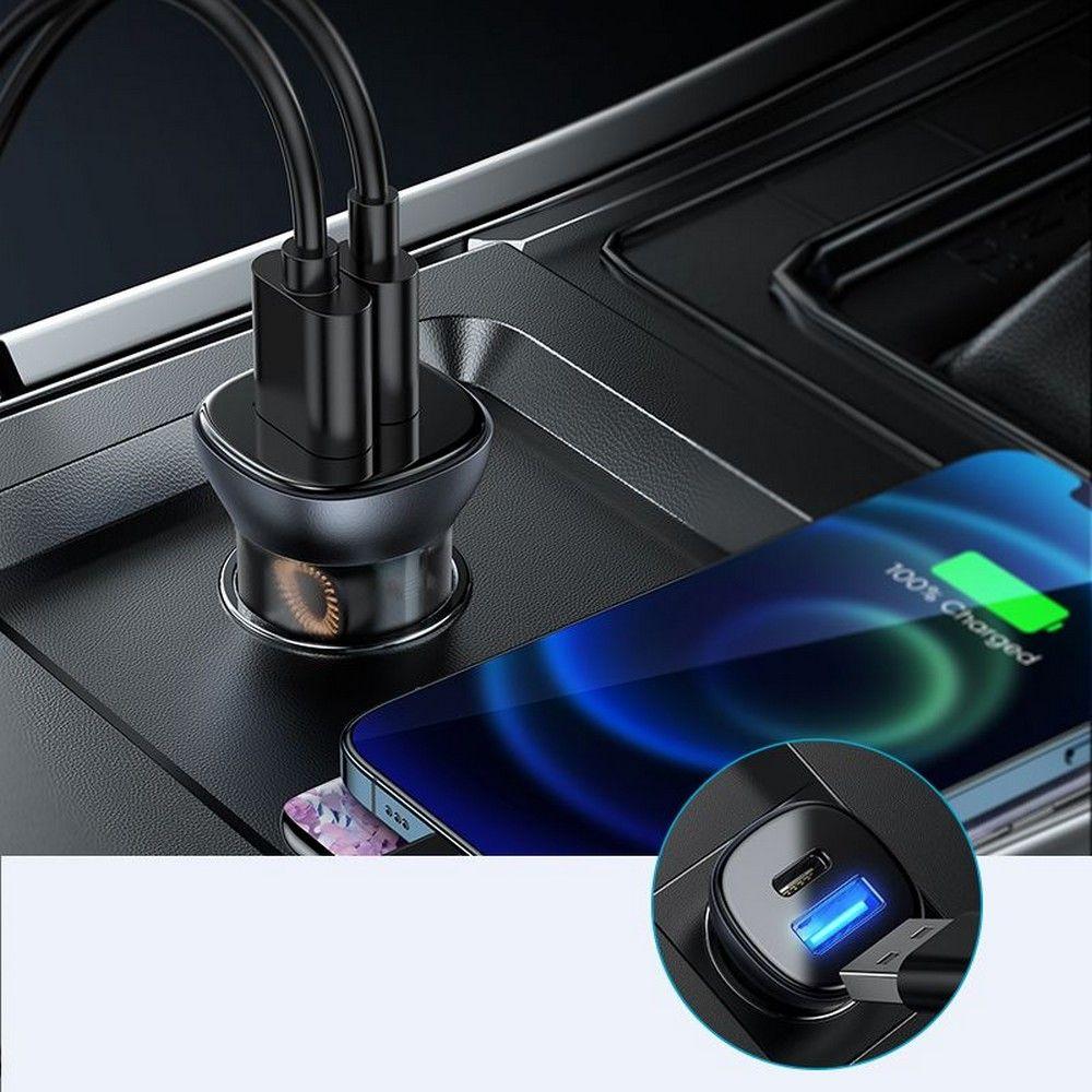 Joyroom C-A42 2-port PD38W/QC3.0 autós töltő