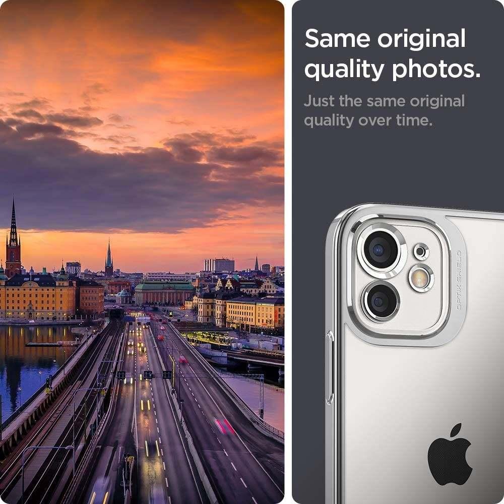Spigen Optik Crystal iPhone 12 tok