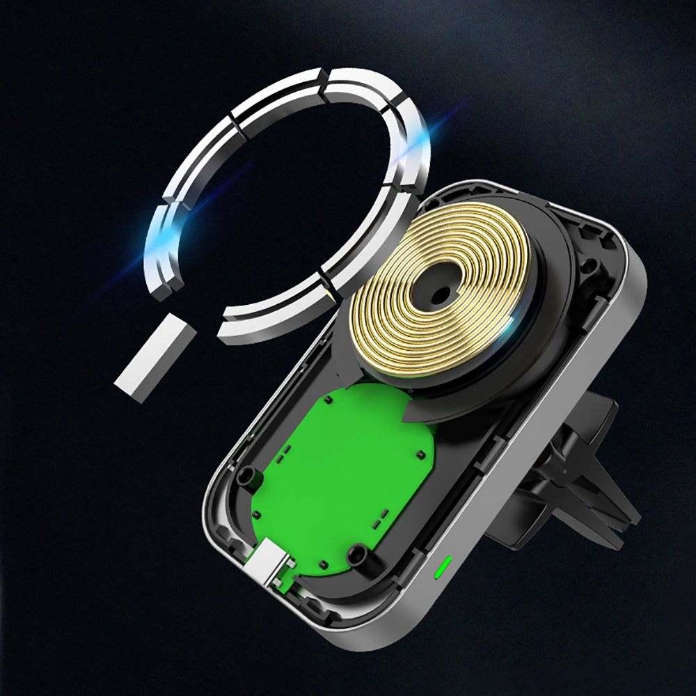 Tech-Protect CW19 mágneses MagSafe autós tartó/töltő